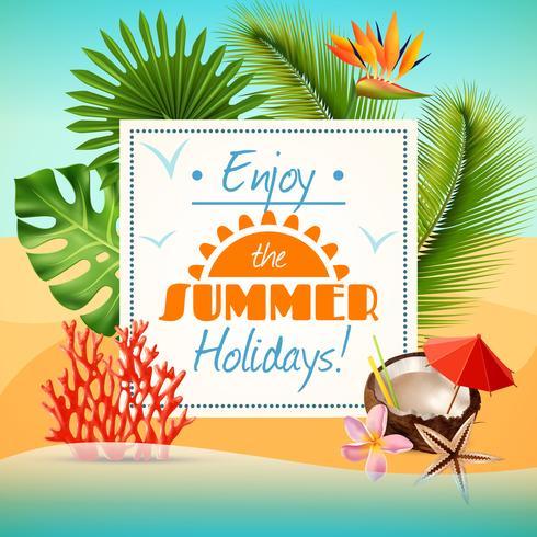 Cartel fiesta de verano vector