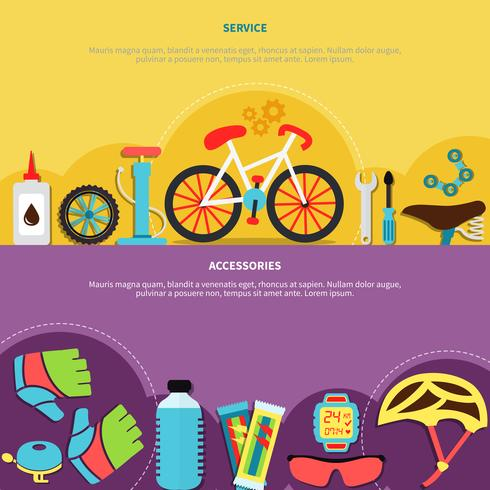 Jeu de bannières de vélo