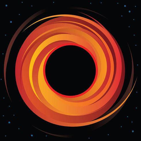 Supermassive Black Hole Vectorafbeelding