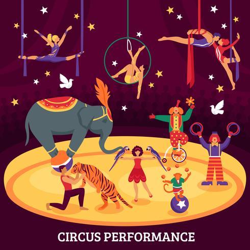 Flache Komposition des Zirkus