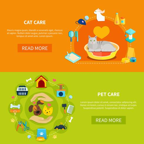 Pet Care Banners vector