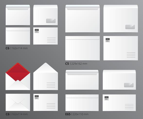 Mail enveloppen Postal Set