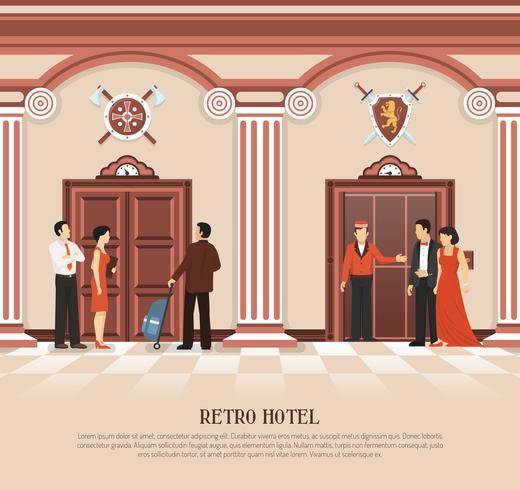Retro Hotel Lift Achtergrond