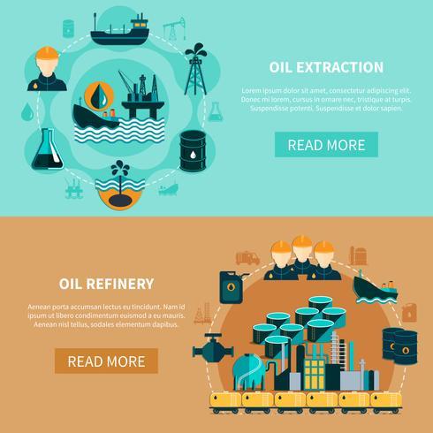 Ensemble de bannières de transport de pétrole