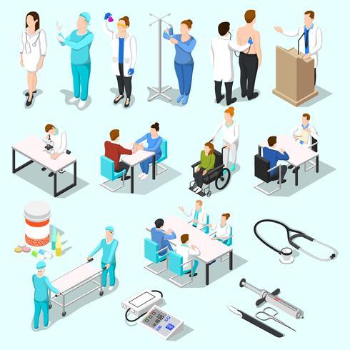 Alla collezione di dottori vettore