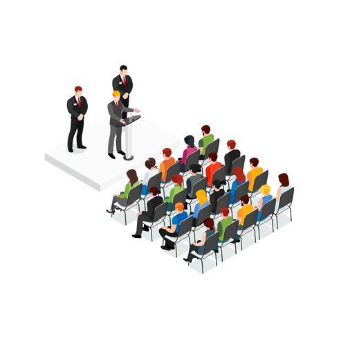 Partido reunión concepto de diseño isométrico