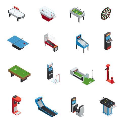 Jogos de mesa Game Machine Icon Set vetor