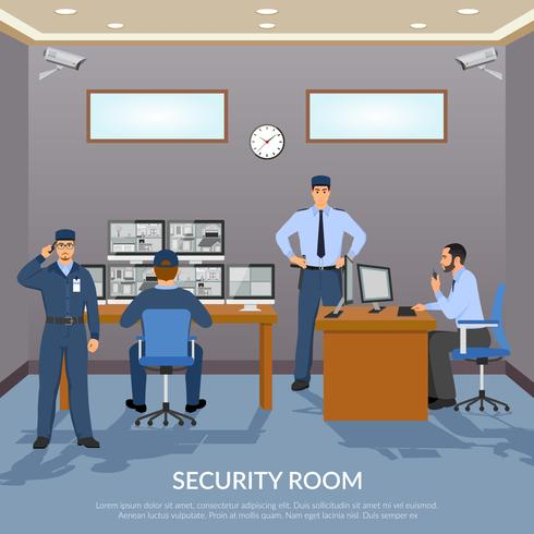 Ilustração de quarto de segurança