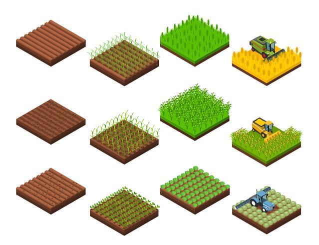 Conjunto de elementos de trabajo de cosecha