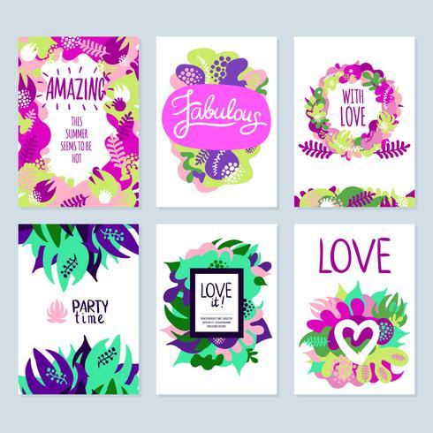 Conjunto de Banners florales vector
