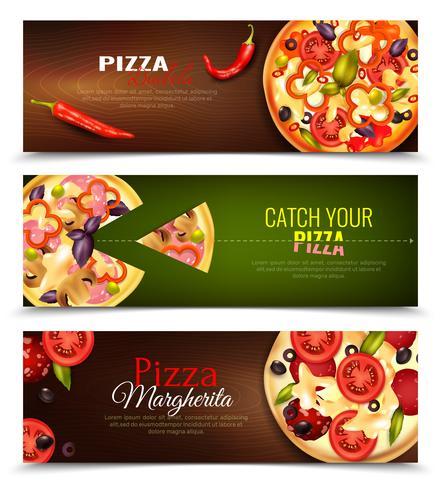 Pizza bannières horizontales