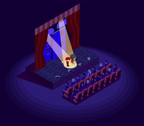teater isometrisk ikon