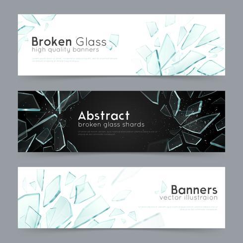 Broken Glass 3 Decorative Banners vector