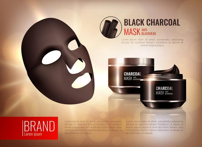 Charcoal Face Mask Poster vector