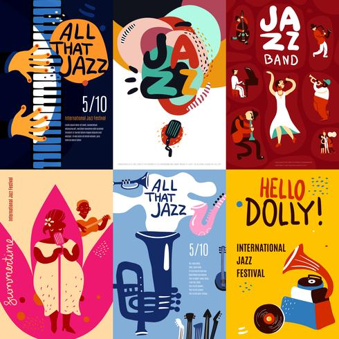 Jazz Poster Set vector
