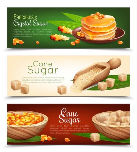 conjunto de bandeiras de cana de açúcar