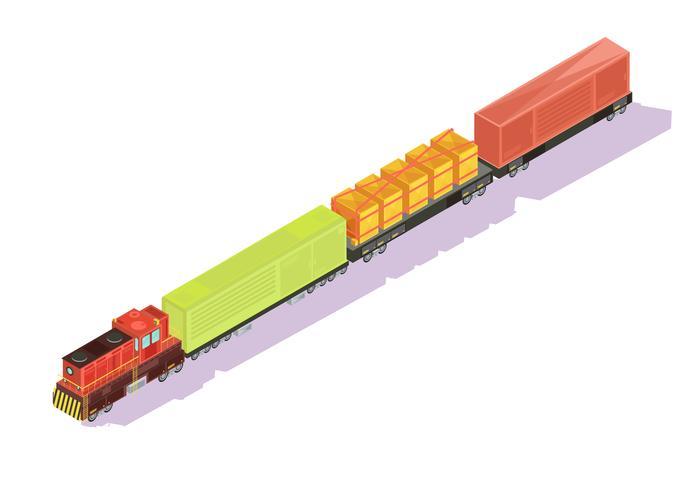 Composition isométrique du train Freightliner