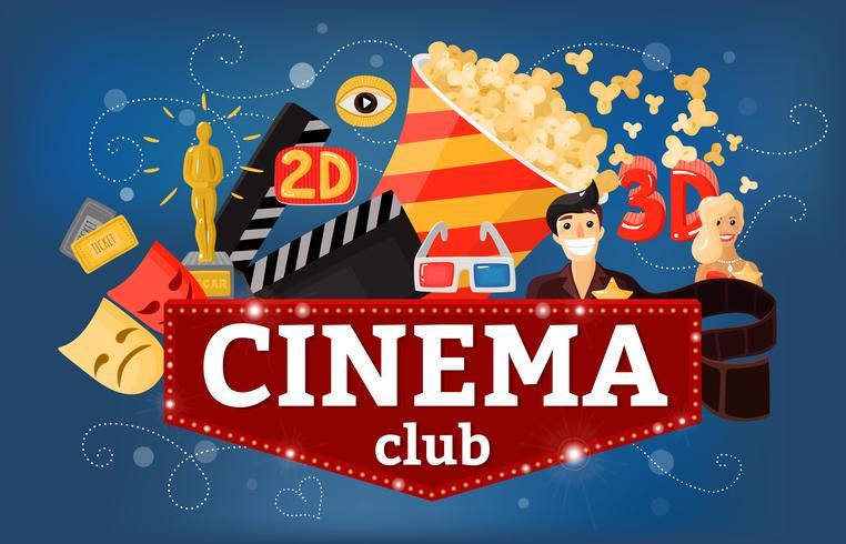 Fundo de clube de teatro de cinema
