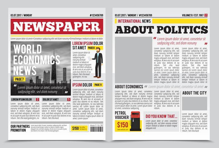 Modelo de propagação de diário de notícias vetor
