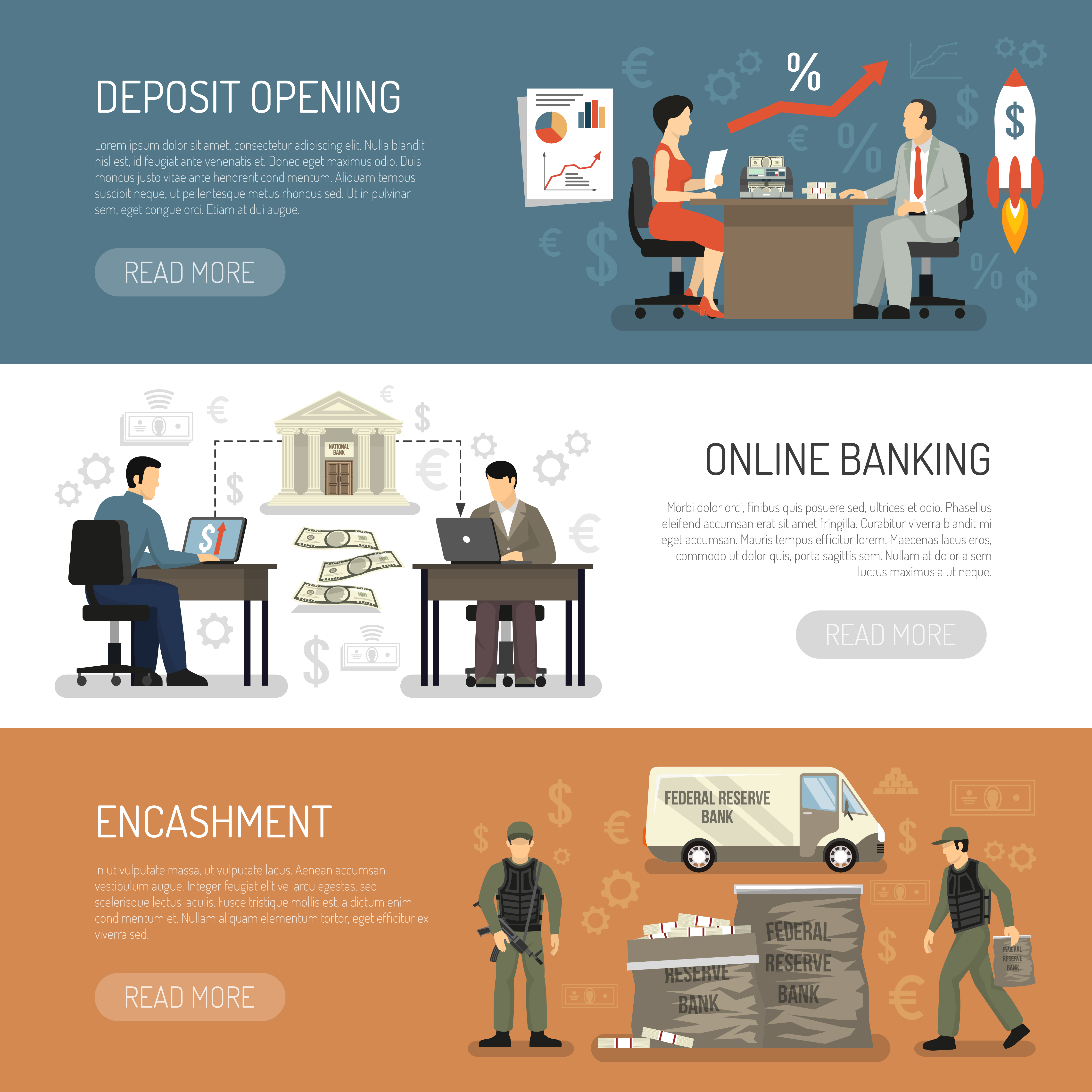 Bank Horizontal Banners Download Free Vectors Clipart Graphics