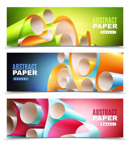 Conjunto de Banners de rolo de papel