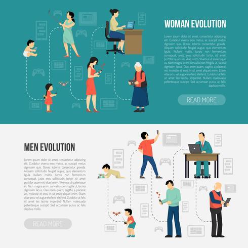 Conjunto de Banners de Evolución de Género