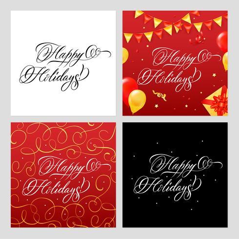 Conjunto de Banners de boas festas