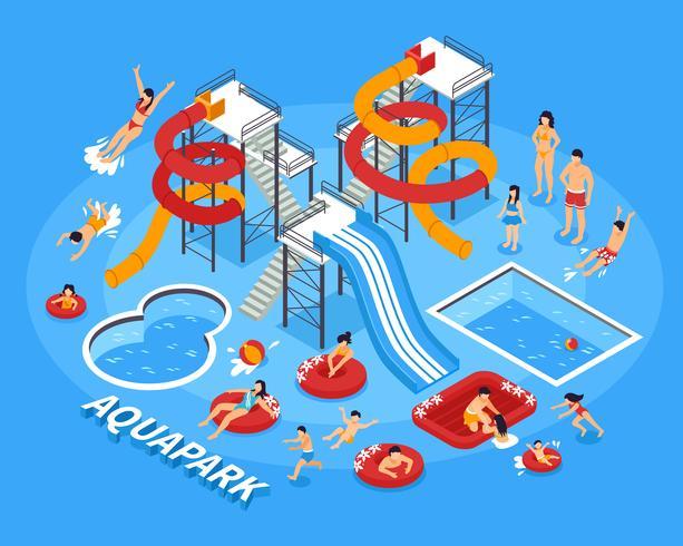 Vattenpark Illustration