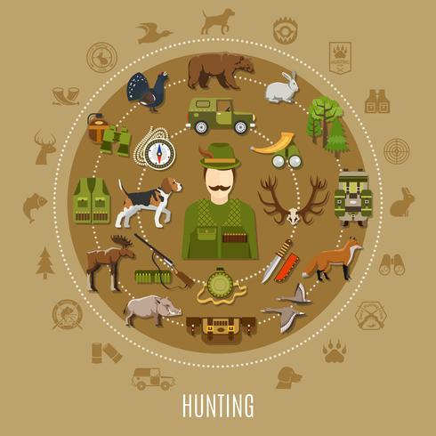 Ilustração do conceito de caça