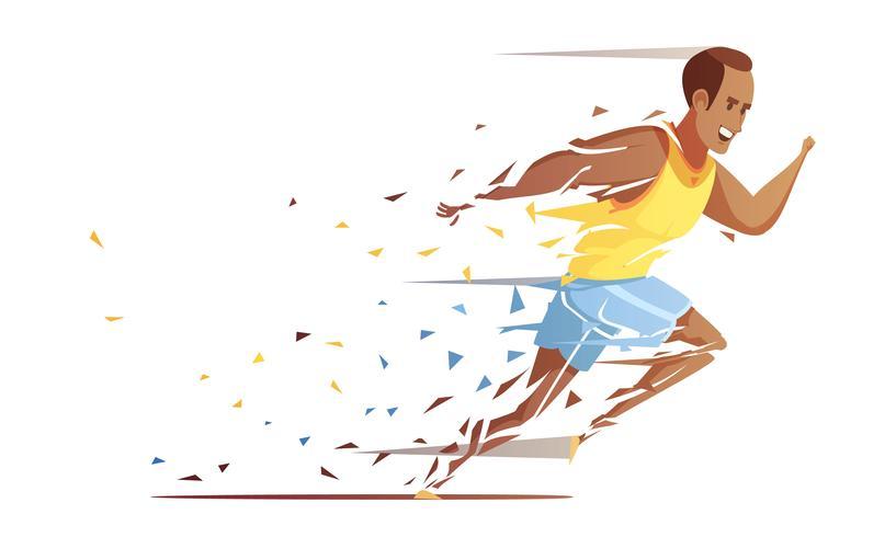 Track-Athlet, der Konzept zerreißt