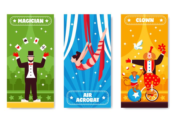 Circus verticale banners collectie