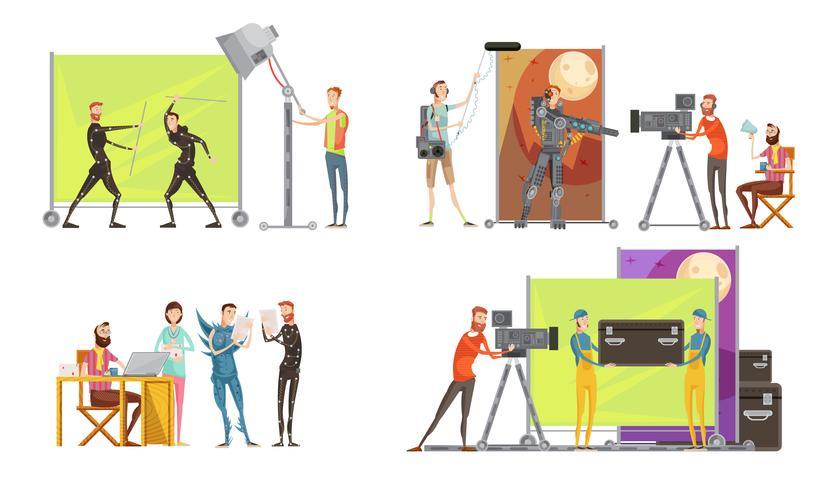 Concepto de creación de películas