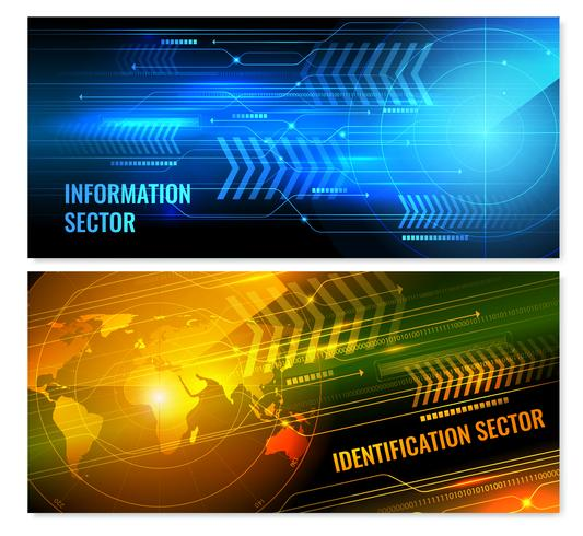 Suche horizontale Radar-Banner