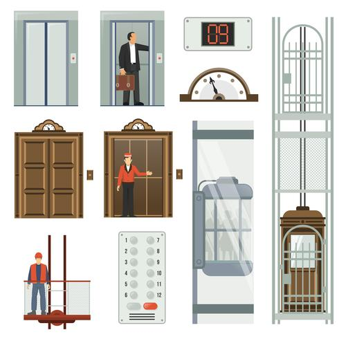 Ascenseur Icon Set