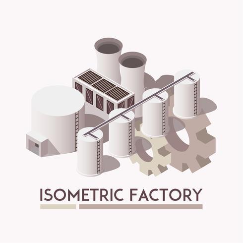 Fabriksisometrisk uppsättning vektor