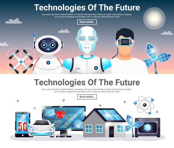Technologies Of Future Horizontal Banners