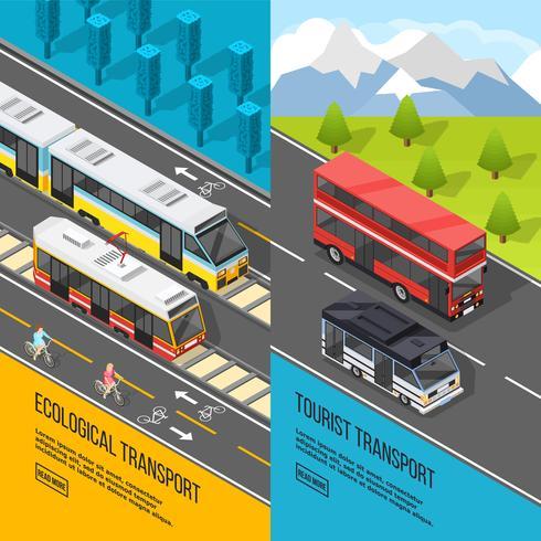 eco transport banners instellen