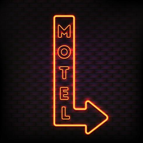 composição luminosa do marcador do motel