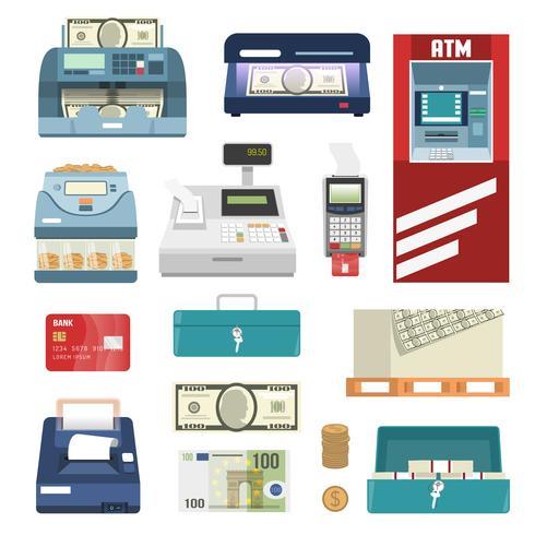 Ikonuppsättning för bankattribut
