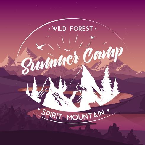 Summer Camp Travel  Advertisement Poster