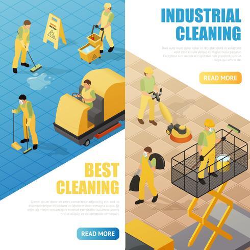 Banner di pulizia industriale