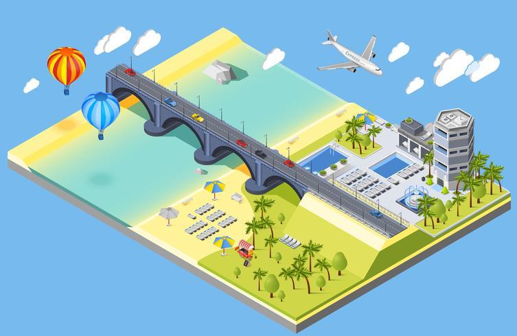 Illustrazione di Bridge And Beach
