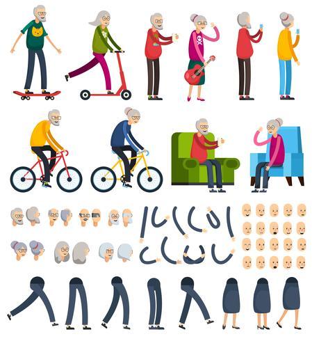 Icone del costruttore ortogonale degli anziani