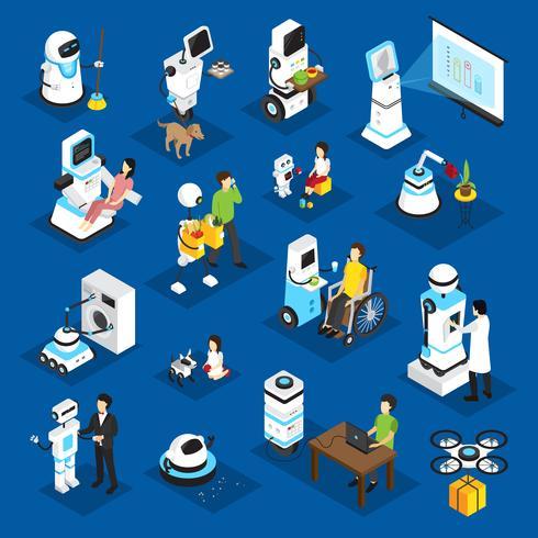 Conjunto isométrico de robôs