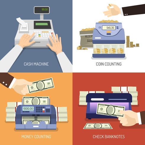 Concepto de diseño de banco vector