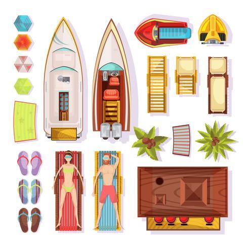 Strand-Elemente-Draufsicht