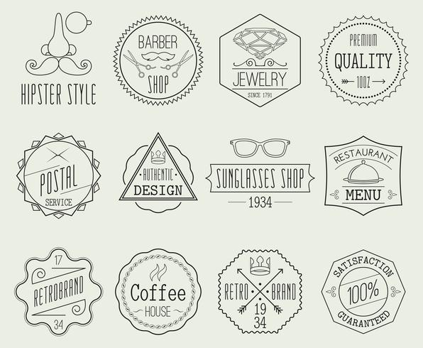 Retro Labels Set