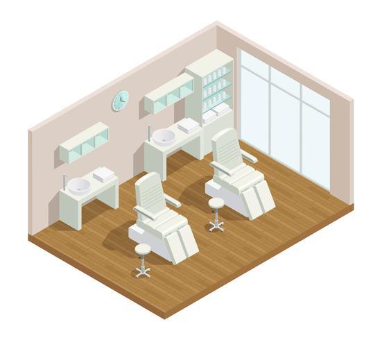cosmetology studio isometrische interieur