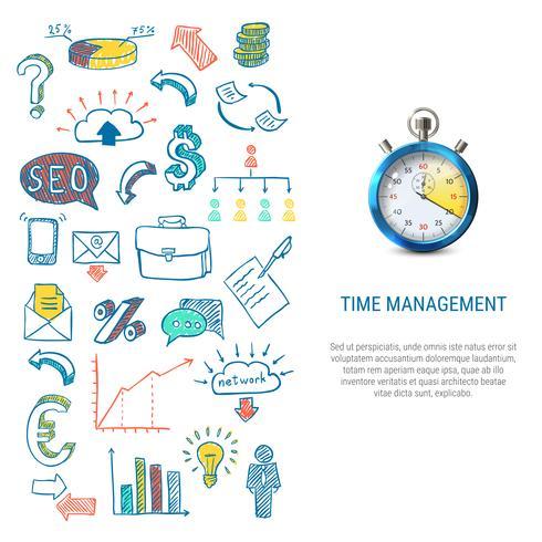 Tijd management concept