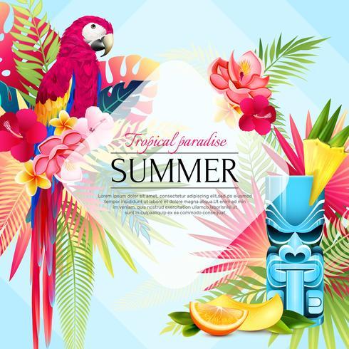 Fundo de paraíso tropical de verão